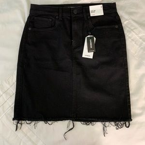NWT Express denim mini skirt